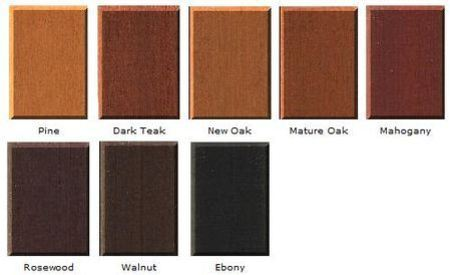 ... appearance will depend upon the original timber colours and grain