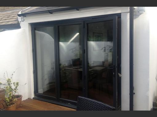 3 Panel Grey Aluminium Bi Fold Door Folding Doors 2 U