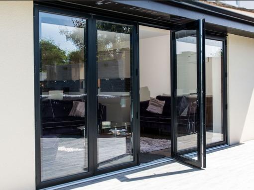 4490x2090 Grey Aluminium Bi Fold Door Folding Doors 2 U