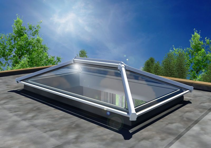 3000 X 1500 White Upvc Roof Lantern Folding Doors 2 U