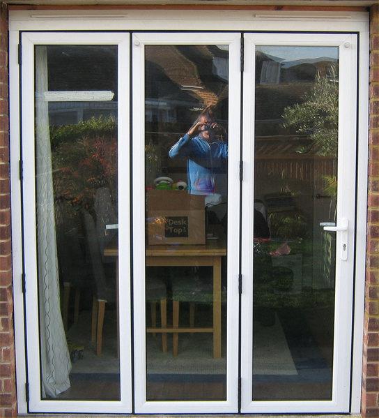 1790 x 2090 white upvc bi fold door folding doors 2 u
