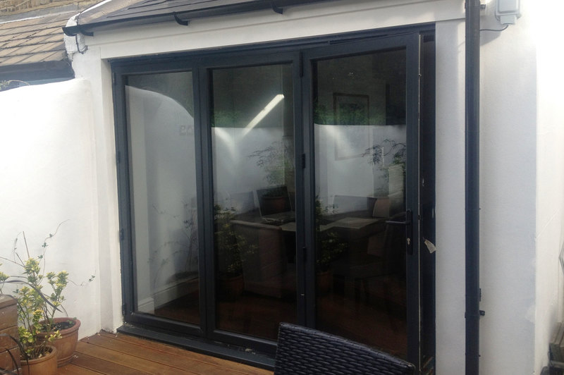Aluminium Panel Gray : Panel grey aluminium bi fold door folding doors u