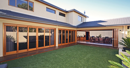 Give your home the natural beauty of real wood bifold doors