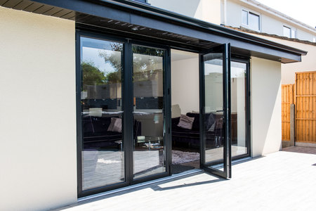 black aluminium bifold door & Aluminium Bi-fold Doors Colour Options | Folding Doors 2 U