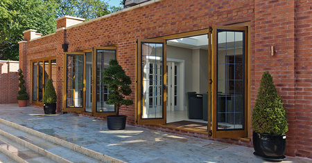 The many tones of timber bifold doors