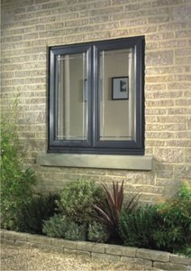 black upvc window