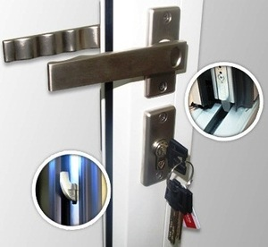 security lever handle