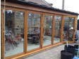 6 Panel hardwood bifold finished in mature oak stain