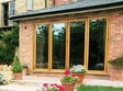 4 panel wooden finish bi-fold doors