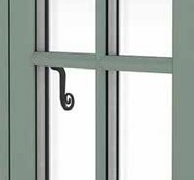 Chartwell Green Flush Sash window with astragal bar