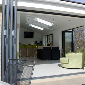 Stay cool with bifolding doors this summer