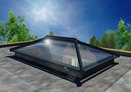 Adding natural light to flat roof extensions