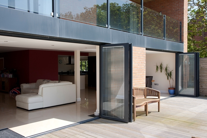 ... 2 sets of black Visofold aluminium folding doors ... & Aluminium Bi-fold Door Gallery | Folding Doors 2 U