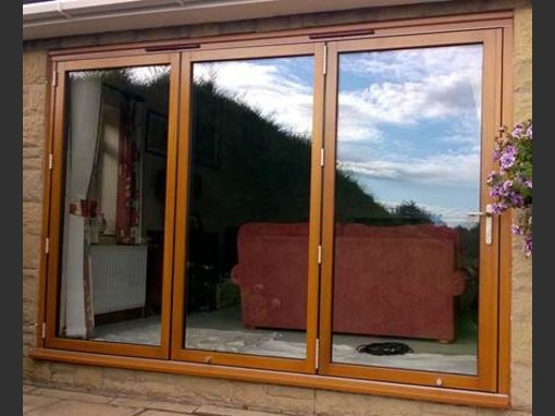 2440 x 2130mm Hardwood Bifold Door