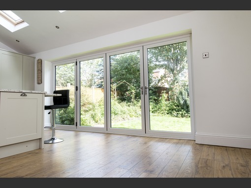 3490 x 2090 White Veka Imagine 4 Panel uPVC Bifold Door