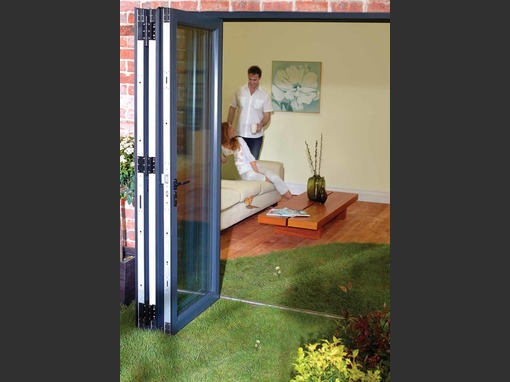 1970 x 2090  3 Panel Wood Grain Veka Imagine uPVC Bifold Door