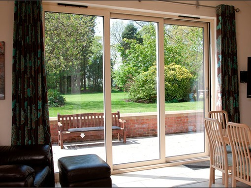 3490 x 2090mm Aluminium Triple Track Sliding Door