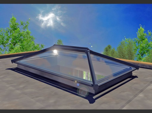 3000 x 1000mm UltraSky Aluminium Roof Lantern
