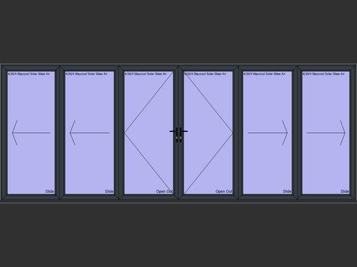 6 panel aluminium visofold bi fold door folding doors 2u for 10 panel bifold door