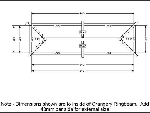 3500 X1000 Aluminium Roof Lantern Folding Doors 2 U