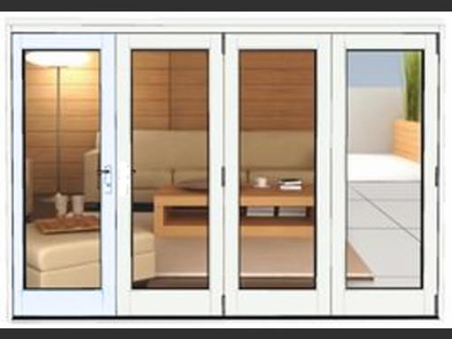 3990 x 2090 white aluminium bi folds folding doors 2 u for Upvc french doors 1190 x 2090