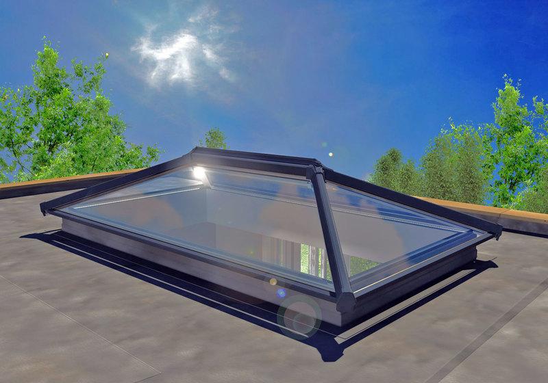 3000 X 1500 Aluminium Roof Lantern Folding Doors 2 U