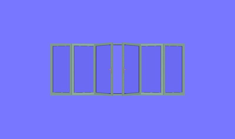 3990 x 2090 wood grain upvc bi folds folding doors 2 u for Upvc french doors 1190 x 2090