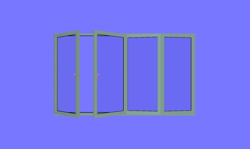 2990 x 2090 wood grain upvc bi folds folding doors 2 u for Upvc french doors 1190 x 2090