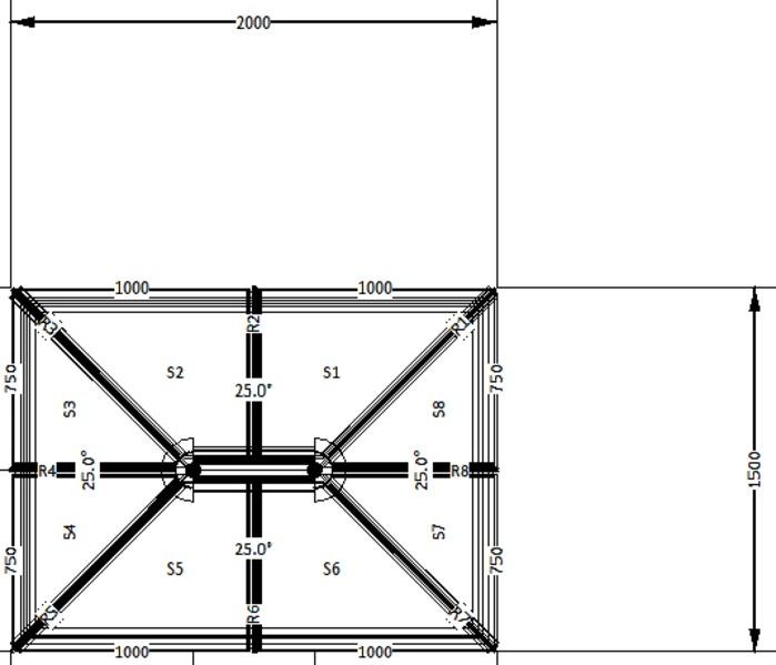 2000 X 1500 Coloured Roof Lantern Folding Doors 2 U