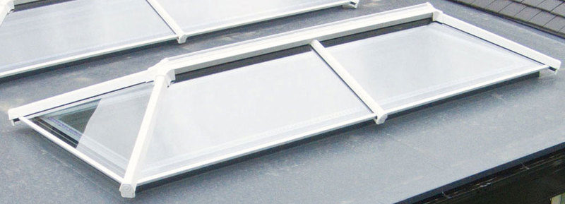 4000 x 1500mm White UPVC UltraSky Roof Lantern