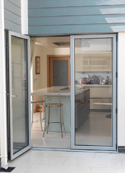 Visofold 1000 Slim Line French Door In White