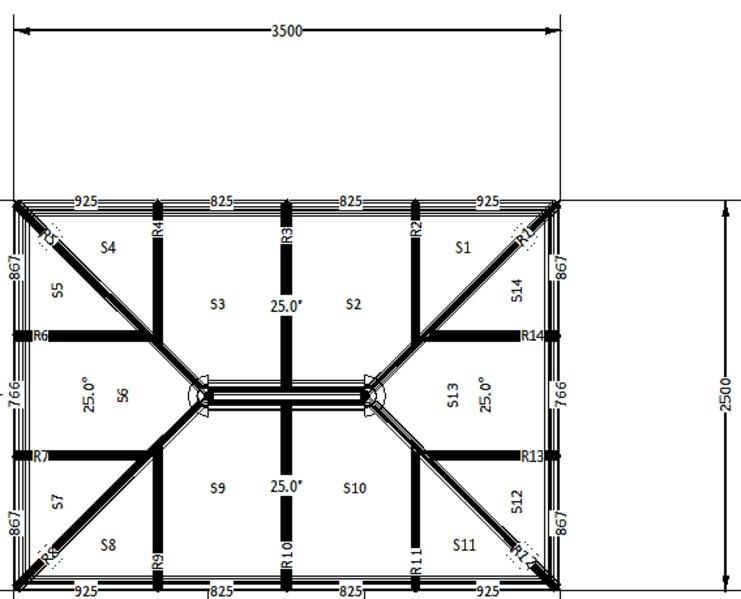 3500 X 2500 Coloured Roof Lantern Folding Doors 2 U