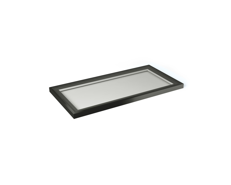 2000 x 1000mm Flat Rooflight with kerb