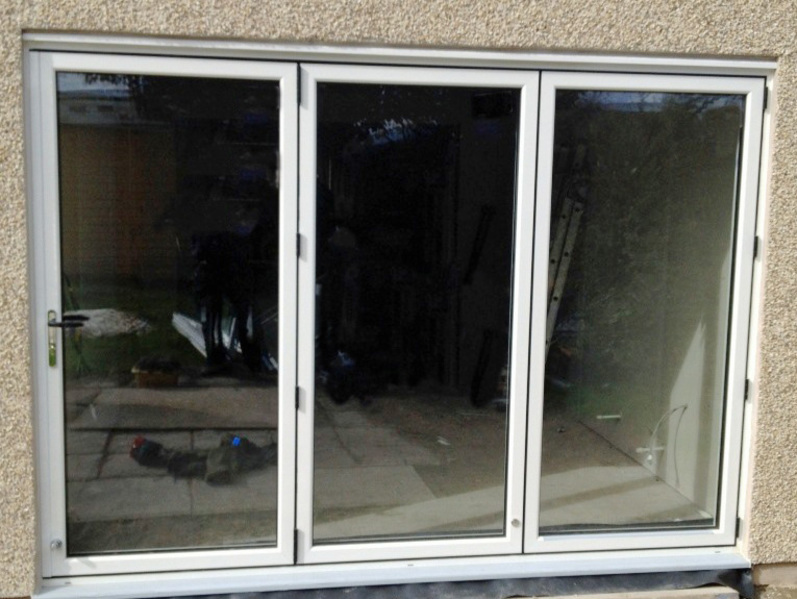 3 Panel White Aluminium Bi-fold Door | Folding Doors 2 U