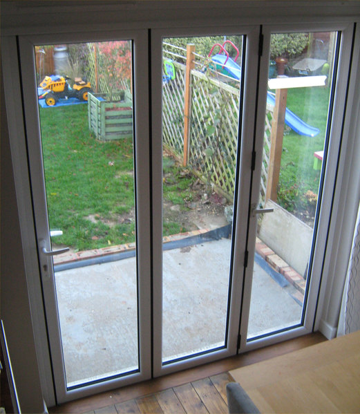 2390 x 2090 white upvc bi fold door folding doors 2 u for Upvc folding doors