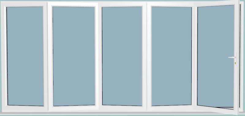 3990 X 2090 Veka Imagine White Upvc Bi Fold Door Folding