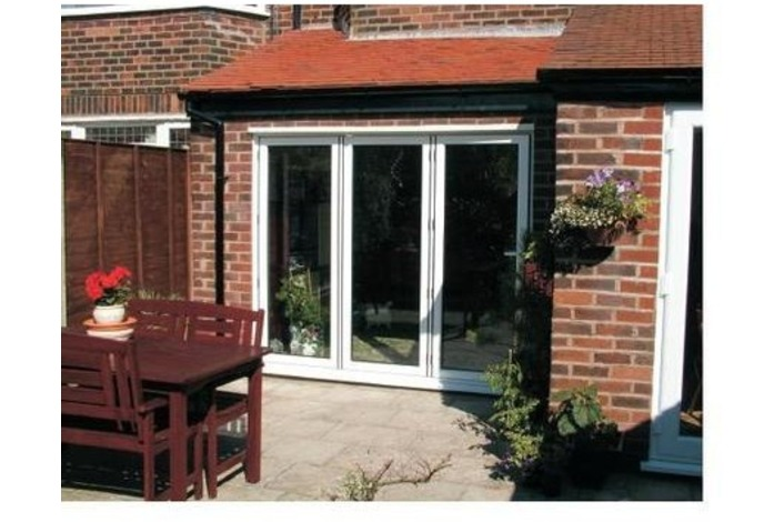 3-Panel patio bi-folding doors supplied by us.
