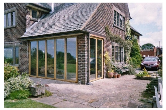 set of timber bi-fold doors