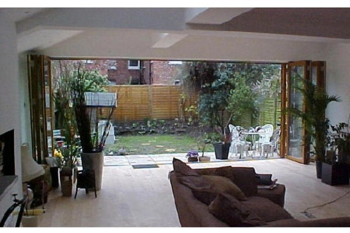 open bi-folds leading to the garden