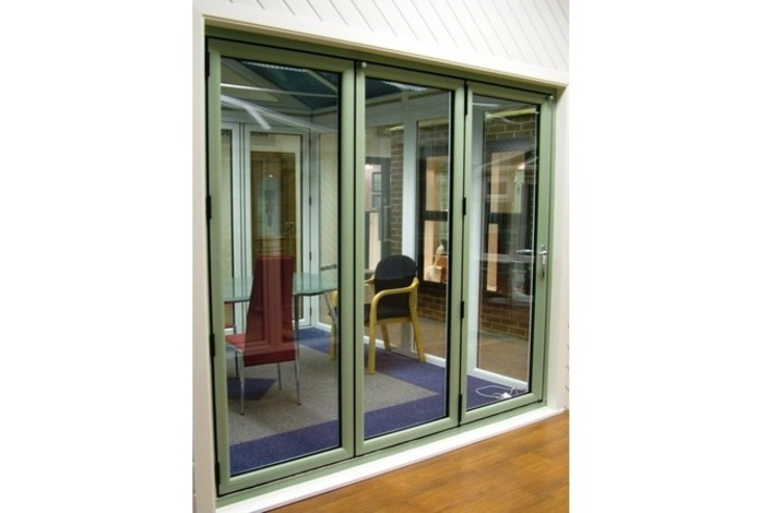 Chartwell Light Green PVCu Bifold Door