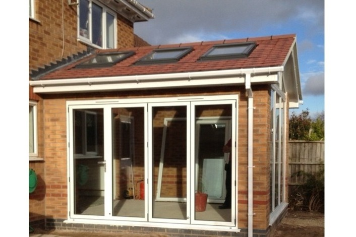 White Visofold 1000 Bifold door