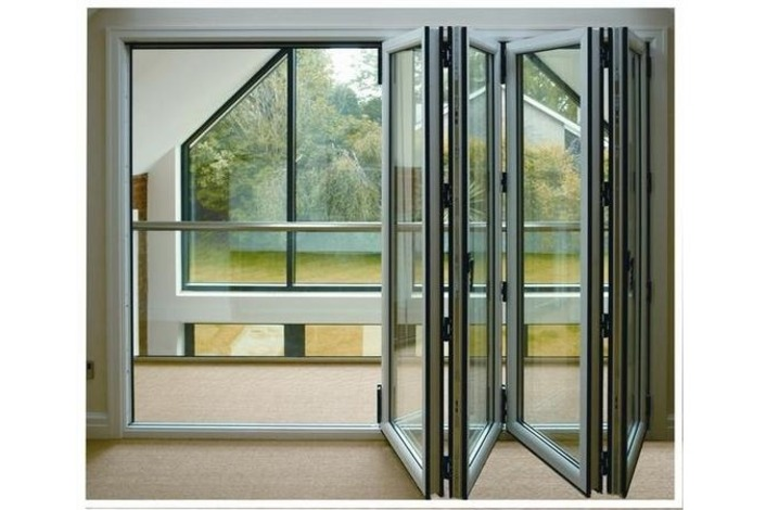 Internal white bifolding doors