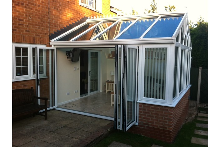 4 Panel upvc conservatory bifold door